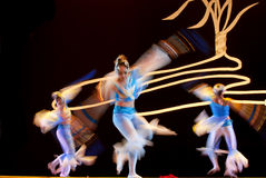 Chinese modern dance : sword orchid Stock Images