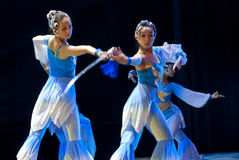 Chinese modern dancers Stock Photos