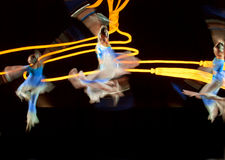 Chinese modern dancers Royalty Free Stock Photos