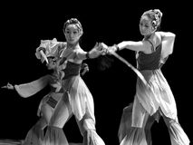 Chinese modern dancing girls Royalty Free Stock Photography