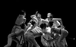 Chinese modern group dance Royalty Free Stock Photography