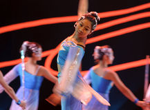 Chinese modern group dancers Stock Photos