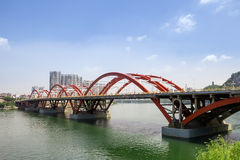 Chinese modern style arch bridge Stock Images