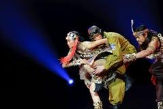 Chinese modern Trios dance Royalty Free Stock Photos