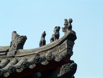 Chinese Modillion. S on one temple tower Royalty Free Stock Images