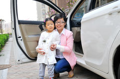 Chinese Mom and daughter royalty free stock photography