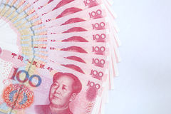 Chinese money. Chinese paper currency of 100 Yuan Royalty Free Stock Photography