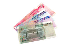 CHINESE MONEY. The chinese currency being revaluing Royalty Free Stock Photography