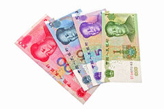 CHINESE MONEY. The chinese currency being revaluing Stock Image