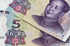 Chinese money background Royalty Free Stock Photos