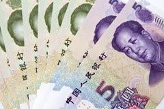 Chinese money background Stock Images