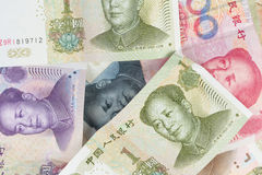Chinese money background. Close up view as background royalty free stock photo