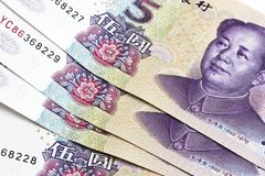 Chinese money - Five Yuan Stock Photos