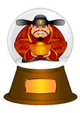 Chinese Money God in Water Snow Globe royalty free illustration