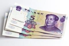 Chinese money isolated on white Stock Photos