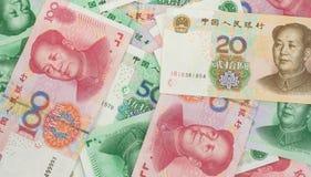 Chinese money. A lot of chinese money Stock Photo