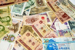 Chinese money in paper form dollars Royalty Free Stock Photo