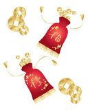 Chinese money purse Royalty Free Stock Image