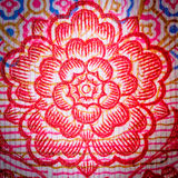 Chinese money rmb background flower Stock Photos