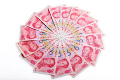 Chinese money rmb  banknote Royalty Free Stock Photo
