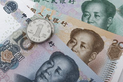 Chinese money (RMB). Royalty Free Stock Photo