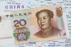 Chinese money yuan Royalty Free Stock Images