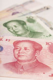 Chinese money yuan banknote close-up Stock Photos
