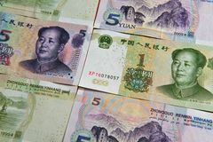 Chinese money - Yuan Bills Stock Photos