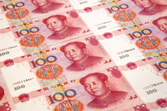 Chinese money 100 Yuan pattern Stock Photography