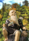 Chinese monk statue Royalty Free Stock Image