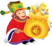 Chinese monkey god of prosperity Stock Image