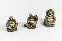 3 Chinese monnikscijfers die vrede, gezondheid, geluk zijn stock afbeeldingen