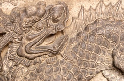 Chinese monster. It is a chinese monster of carving stone Royalty Free Stock Image