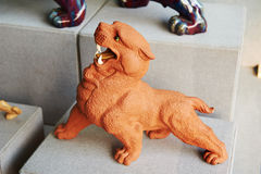 Chinese monster _ ceramic sculpture Stock Image