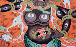 Chinese monster paint. Close up Stock Photography
