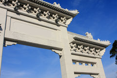 Chinese monumental archway Royalty Free Stock Photos
