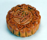 Chinese moon cake. Red bean paste chinese moon cake which is must for mid-autumn festival Stock Photo