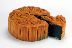 Chinese moon cake 2. Red bean paste chinese moon cake which is must for mid-autumn festival Stock Photography