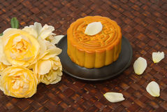 Chinese Moon cake for Chinese mid-autumn festival Stock Photo