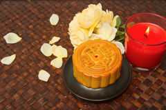 Chinese Moon cake for Chinese mid-autumn festival Stock Image