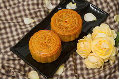 Chinese Moon cake for Chinese mid-autumn festival Royalty Free Stock Photography