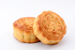 Chinese moon cake-- food for Chinese mid-autumn festival   isolated on white background Royalty Free Stock Photography