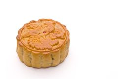 Chinese Moon Cake isolated over white background. Royalty Free Stock Photo