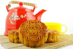 Chinese moon cake Stock Photos
