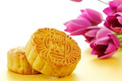 Chinese moon cake Royalty Free Stock Image