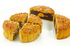 Chinese moon cake Royalty Free Stock Images