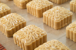 Chinese moon cakes ready to be cooked Stock Photos
