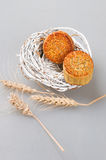 Chinese Moon Cakes and wheat Royalty Free Stock Image