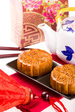 Chinese Mooncake Royalty-vrije Stock Foto