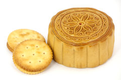 Chinese Mooncake and biscuit Royalty Free Stock Image